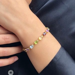 Multicolored Gold and Tourmaline Bracelet